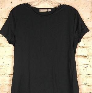 Black T-Shirt Short Sleeve Minimalism Sz S Croft
